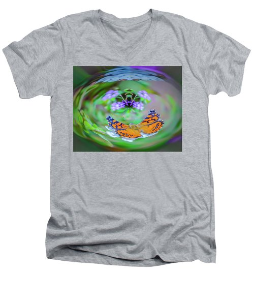 Circularity Men's V-Neck T-Shirt by Mark Dunton