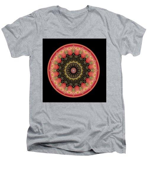 Men's V-Neck T-Shirt featuring the digital art Circularium No 2659 by Alan Bennington