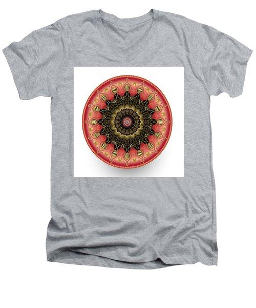 Men's V-Neck T-Shirt featuring the digital art Circularium No 2660 by Alan Bennington