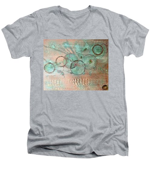 Circumnavigate Men's V-Neck T-Shirt by T Fry-Green