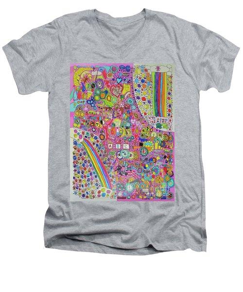 Circus Moon Men's V-Neck T-Shirt