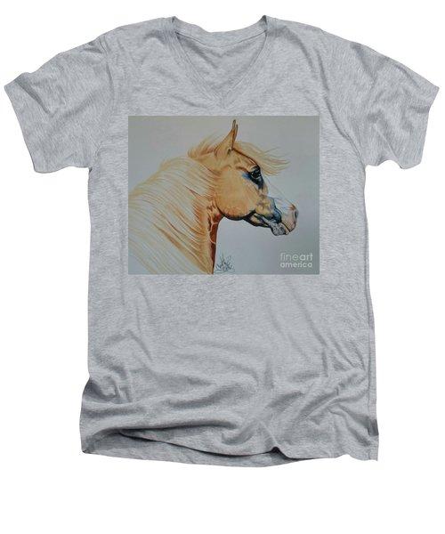Palomino Paint - Cisco Men's V-Neck T-Shirt by Cheryl Poland