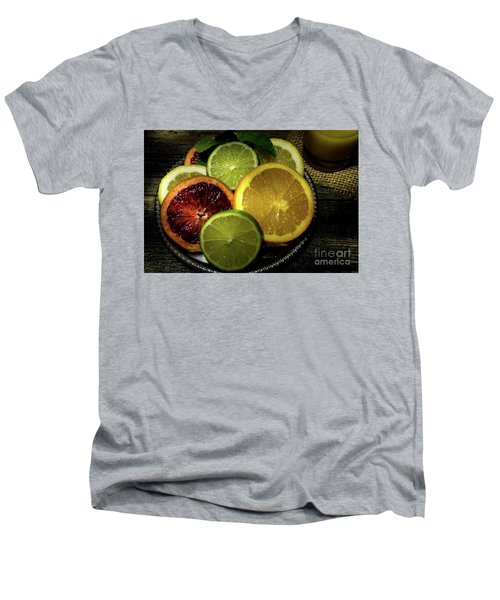 Citrus Platter Men's V-Neck T-Shirt