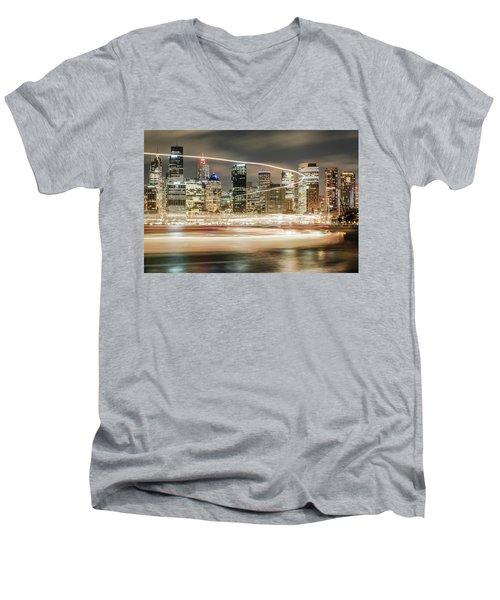 City Blur Men's V-Neck T-Shirt
