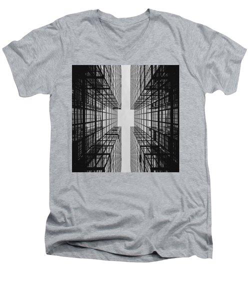City Buildings Men's V-Neck T-Shirt