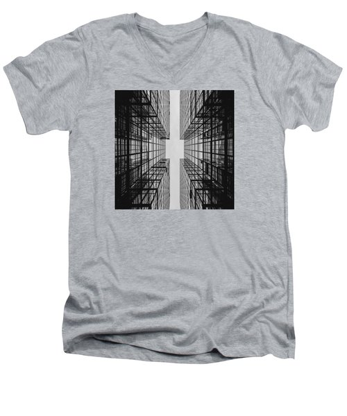 City Buildings Men's V-Neck T-Shirt