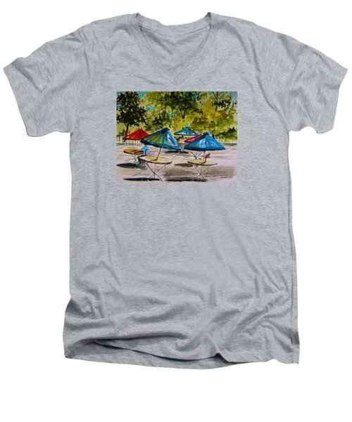 City Cafe Men's V-Neck T-Shirt by John Williams