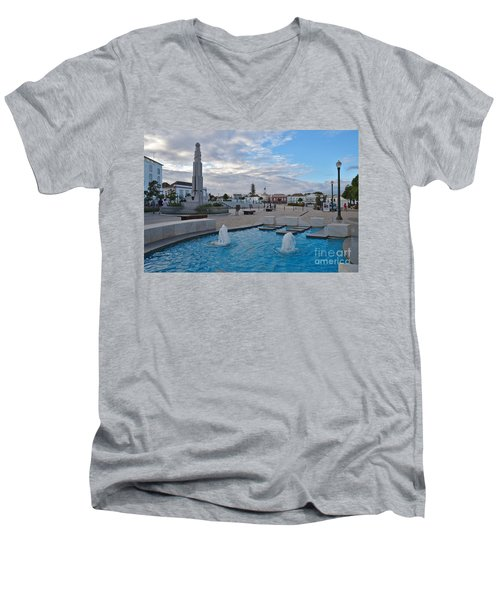 City Center Of Tavira Men's V-Neck T-Shirt
