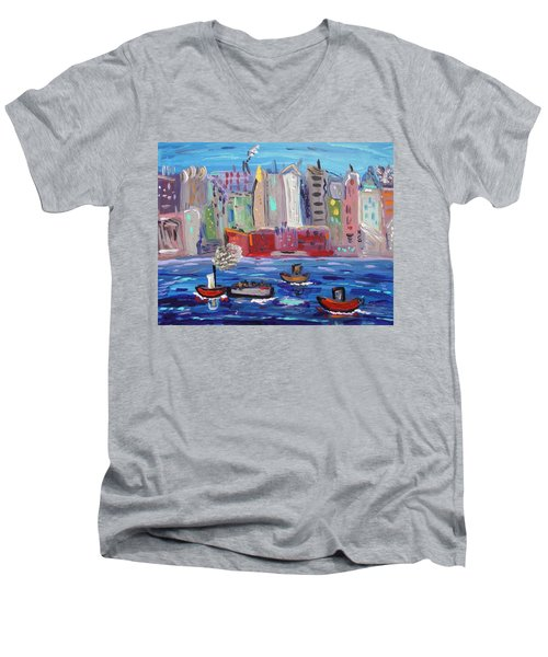 City City City Men's V-Neck T-Shirt