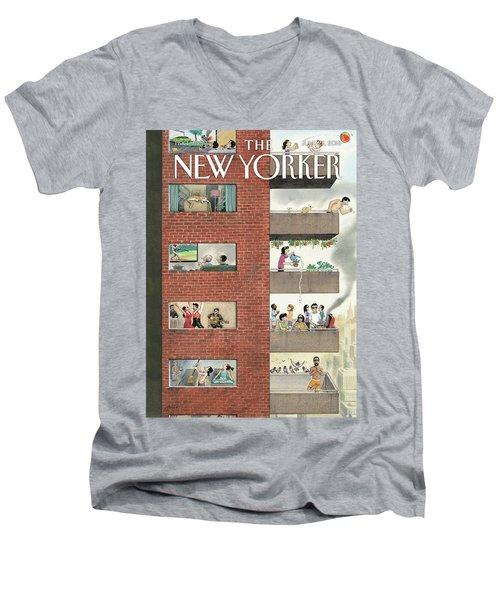 City Living Men's V-Neck T-Shirt