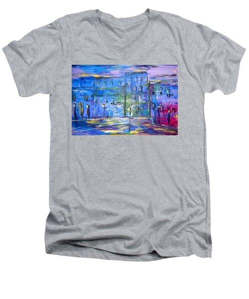 City Mouse Men's V-Neck T-Shirt