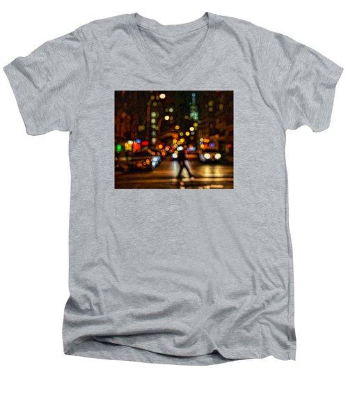 City Nights, City Lights Men's V-Neck T-Shirt