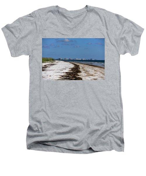 City Of Clearwater Skyline Men's V-Neck T-Shirt