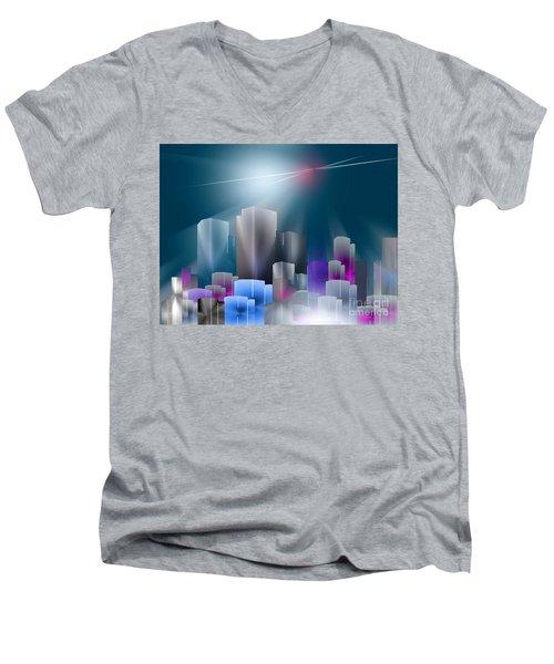 City Of Light Men's V-Neck T-Shirt