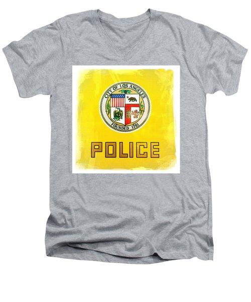 City Of Los Angeles - Police Men's V-Neck T-Shirt