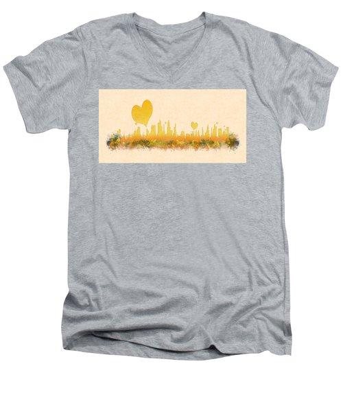 City Of Love Men's V-Neck T-Shirt