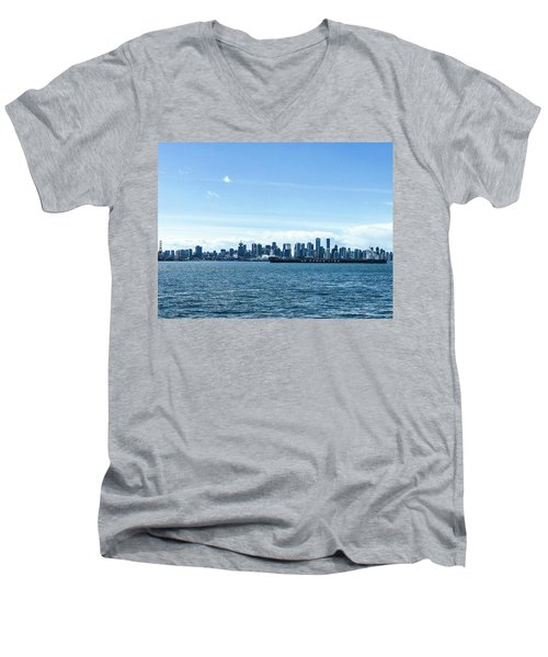 City Of Vancouver From The North Shore Men's V-Neck T-Shirt
