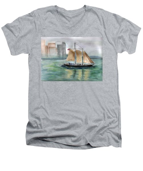 City Sail Men's V-Neck T-Shirt
