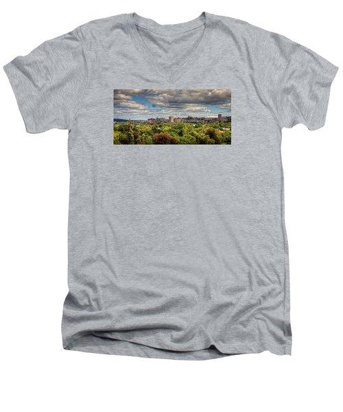 City Skyline Men's V-Neck T-Shirt
