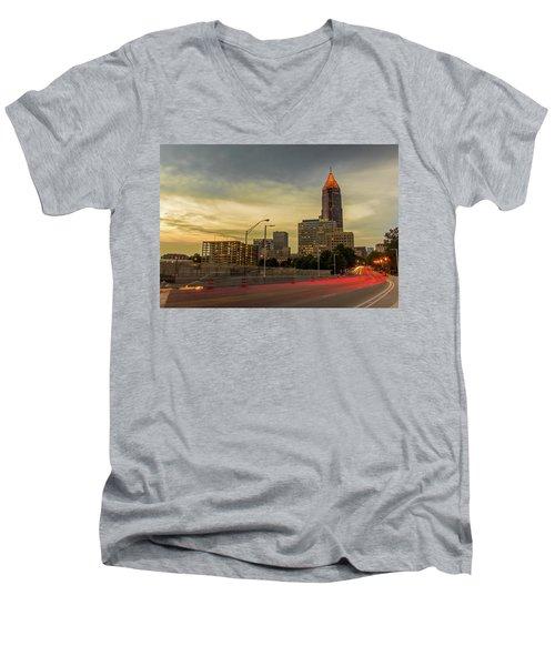 City Sunset Men's V-Neck T-Shirt