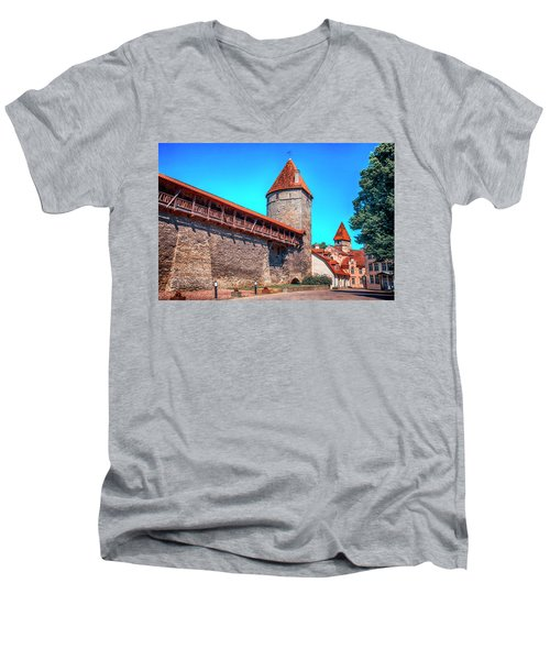 City Wall Men's V-Neck T-Shirt