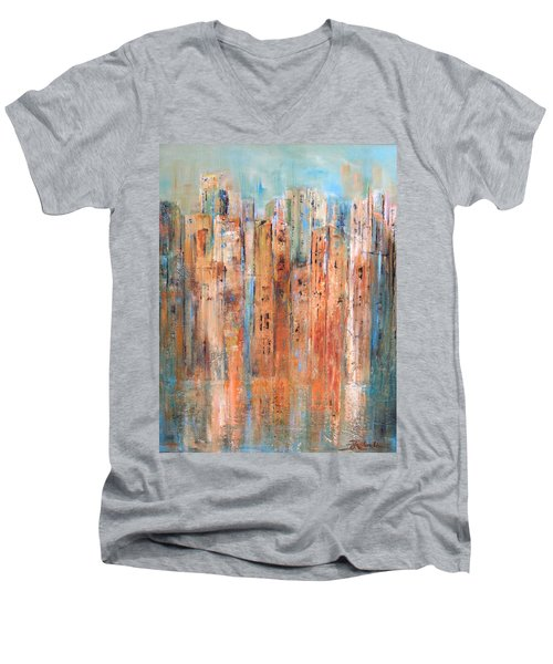 Cityscape #3 Men's V-Neck T-Shirt