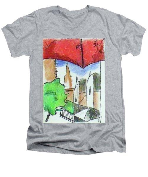 Cityscape 963 Men's V-Neck T-Shirt