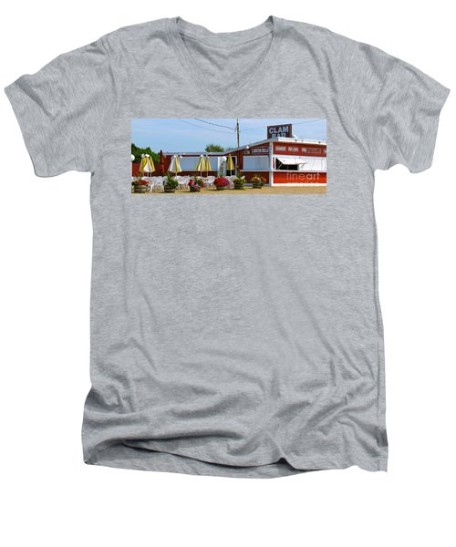 Clam Bar Men's V-Neck T-Shirt by Beth Saffer