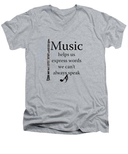 Clarinet Music Expresses Words Men's V-Neck T-Shirt