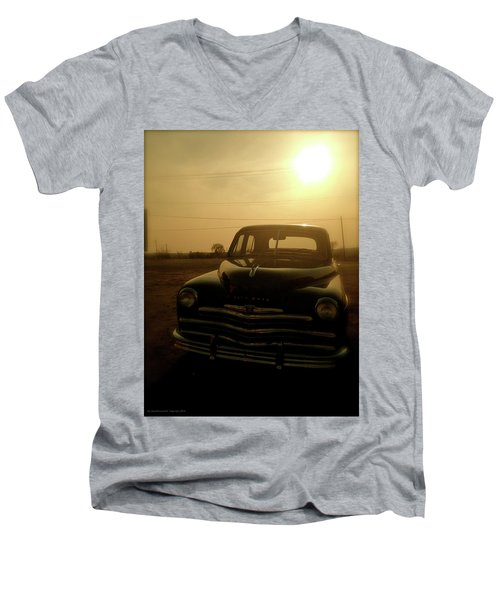 Classic America, Eight Men's V-Neck T-Shirt by Iconic Images Art Gallery David Pucciarelli