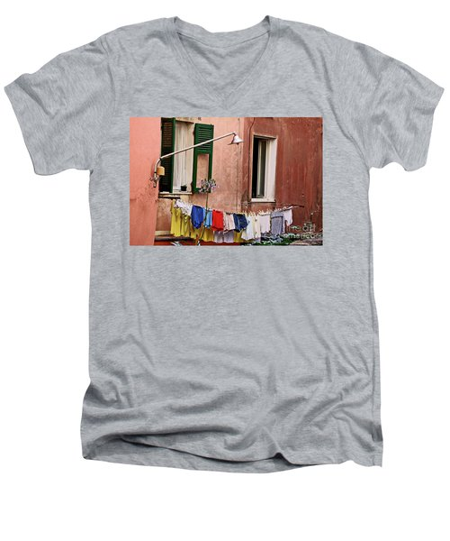 Classic Hand Washing  Men's V-Neck T-Shirt