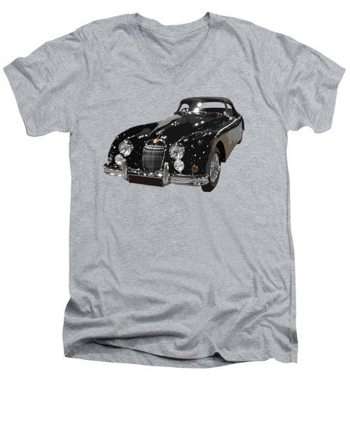 Classic Jaguar In Black Art Men's V-Neck T-Shirt