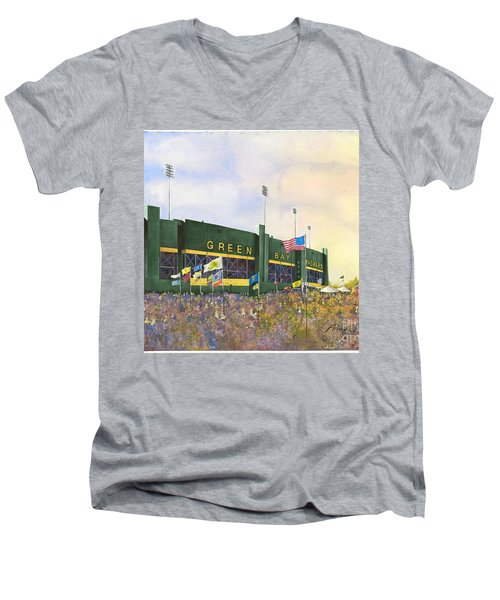 Classic Lambeau Men's V-Neck T-Shirt