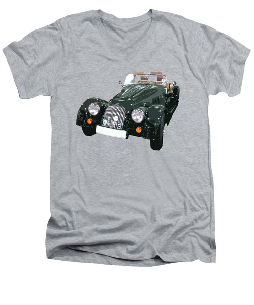 Classic Motor Art In Green Men's V-Neck T-Shirt