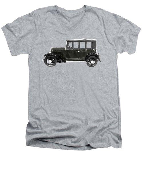 Classic Motor Black Art Men's V-Neck T-Shirt