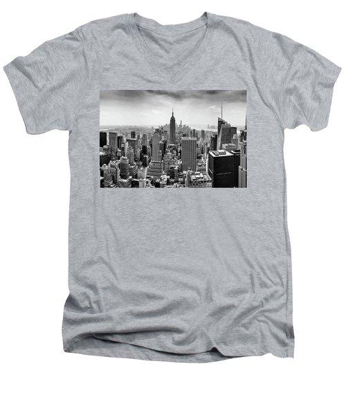 Classic New York  Men's V-Neck T-Shirt by Az Jackson