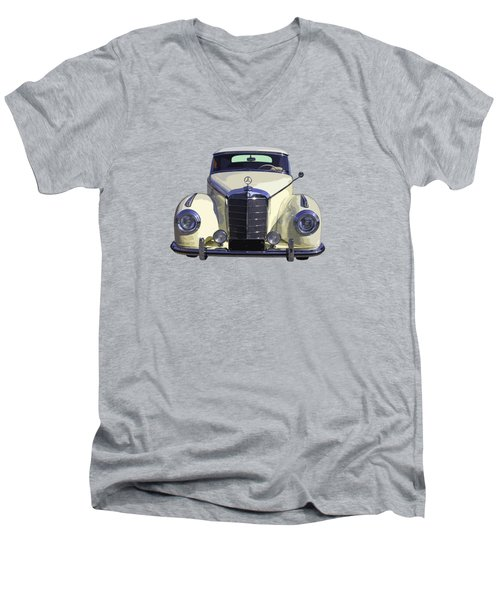 Classic White Mercedes Benz 300  Men's V-Neck T-Shirt by Keith Webber Jr