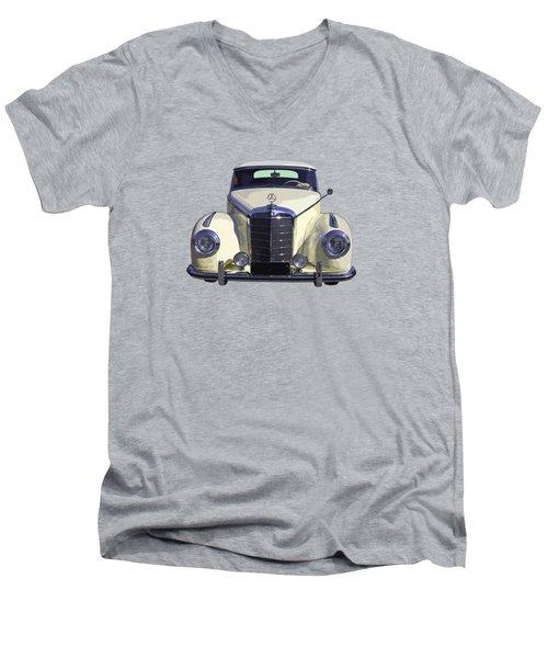 Classic White Mercedes Benz 300  Men's V-Neck T-Shirt