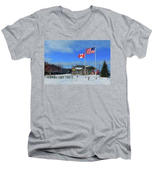 Clayton Seasons Greetings Men's V-Neck T-Shirt