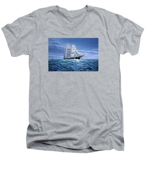 Clear Skies Ahead Men's V-Neck T-Shirt