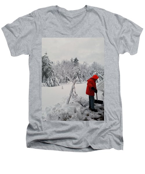 Clearing A Path Men's V-Neck T-Shirt