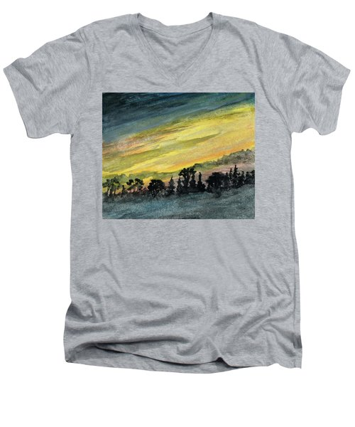 Clearing Storm Men's V-Neck T-Shirt by R Kyllo