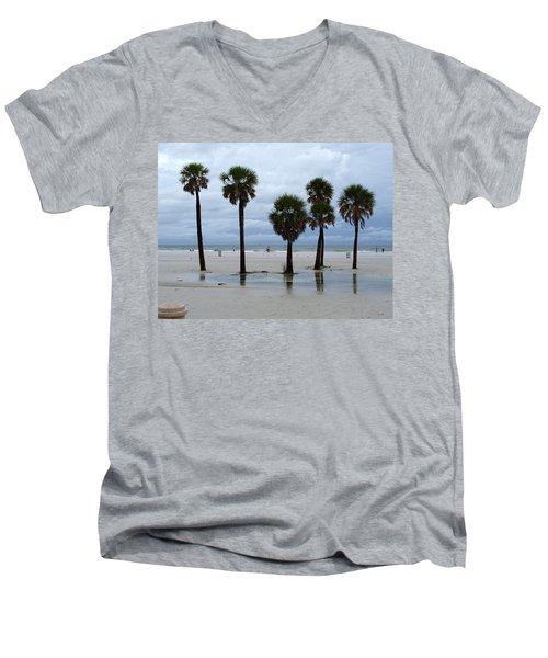 Clearwater Beach Men's V-Neck T-Shirt