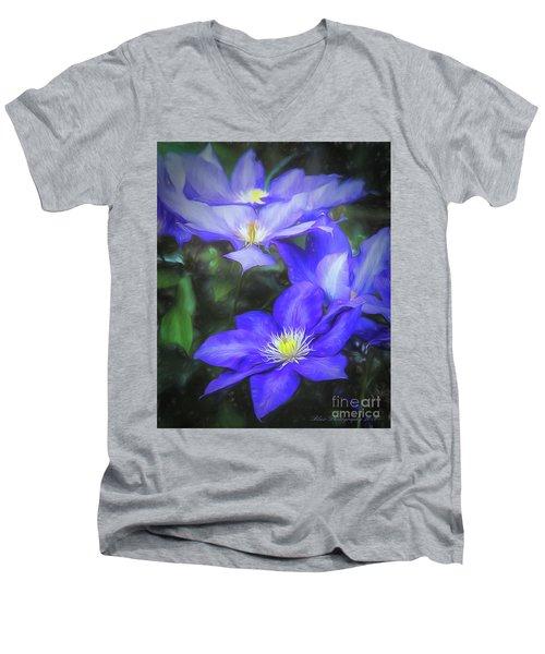 Clematis Men's V-Neck T-Shirt