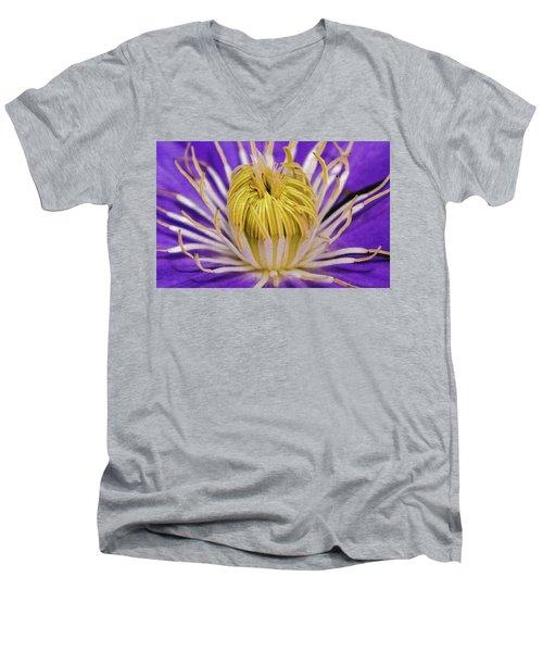 Clematis Macro Men's V-Neck T-Shirt