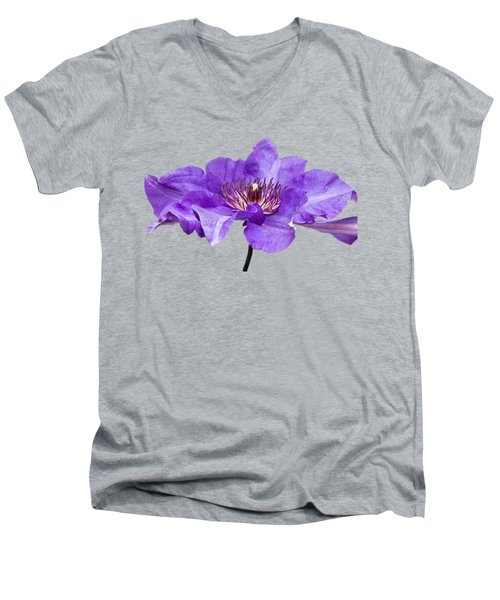 Clematis Men's V-Neck T-Shirt by Scott Carruthers