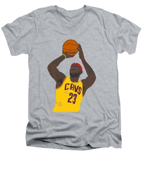 Cleveland Cavaliers - Lebron James - 2014 Men's V-Neck T-Shirt