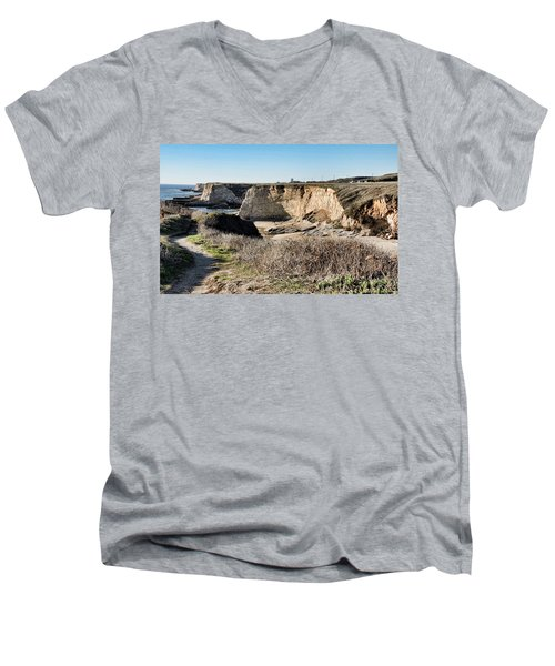 Cliff Top Men's V-Neck T-Shirt