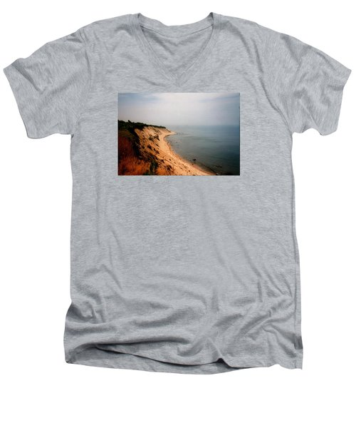 Cliffs Of Block Island Men's V-Neck T-Shirt