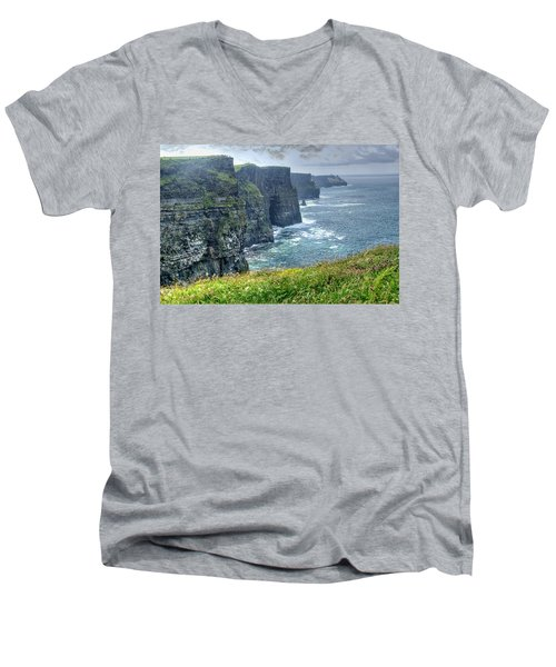 Men's V-Neck T-Shirt featuring the photograph Cliffs Of Moher by Alan Toepfer